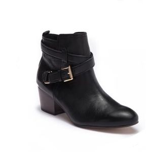 Coach Pauline Black Leather Ankle Booties Size 6.5